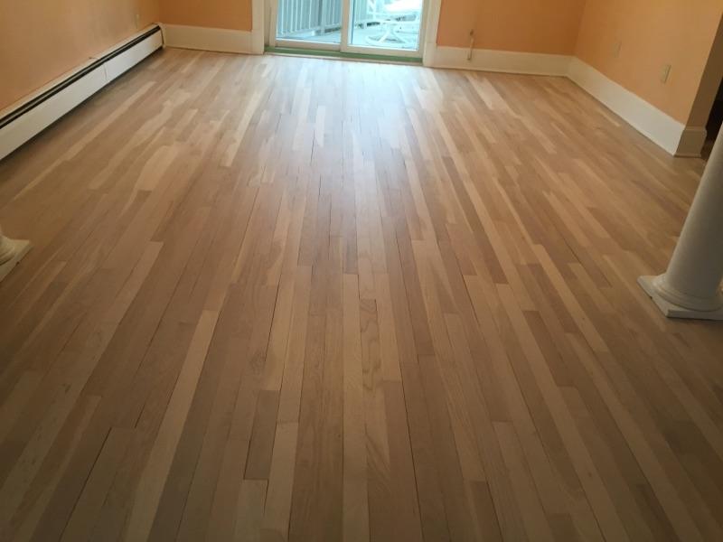 Hardwood Floors Refinished With Bona Natural Water Base